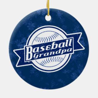 Ornement Rond En Céramique Décoration de vacances de grand-papa de base-ball