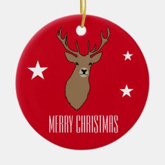 Ornement Rond En Céramique Décoration d'ornement de Joyeux Noël de mâle