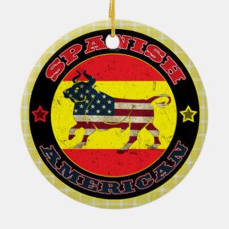 Ornement Rond En Céramique Décoration hispano-américaine de Taureau