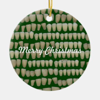Ornement Rond En Céramique Dent dentaire de Noël d'orthodontiste de dentiste