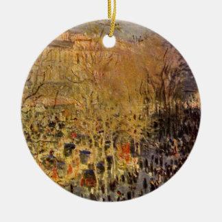 Ornement Rond En Céramique DES Capucines par Claude Monet, beaux-arts de