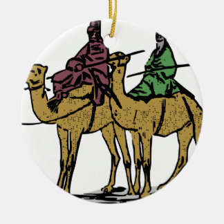 Ornement Rond En Céramique Deux types de chameau