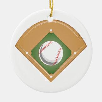 Ornement Rond En Céramique Diamant de base-ball