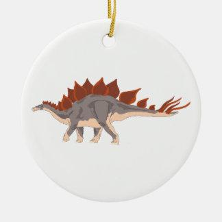 Ornement Rond En Céramique Dinosaure