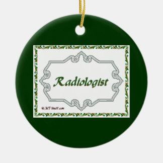 Ornement Rond En Céramique Docteur Ornament Radiologist