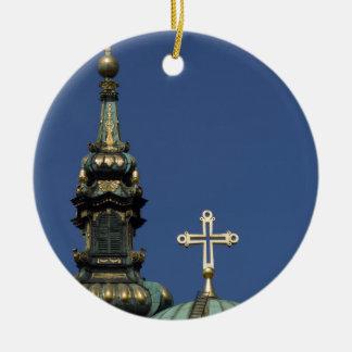Ornement Rond En Céramique Dômes orthodoxes d'église chrétienne