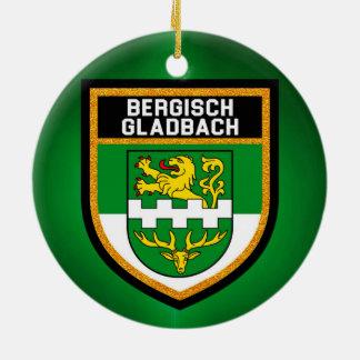Ornement Rond En Céramique Drapeau de Bergisch Gladbach