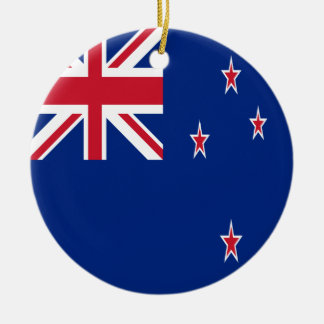 Ornement Rond En Céramique Drapeau de la Nouvelle Zélande