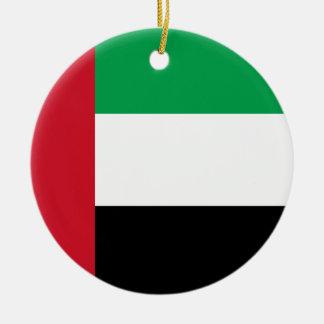 Ornement Rond En Céramique Drapeau des Emirats Arabes Unis