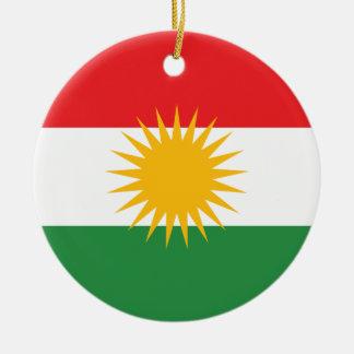 Ornement Rond En Céramique Drapeau du Kurdistan ; Kurde ; Kurde