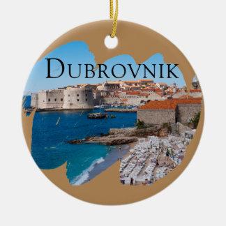 Ornement Rond En Céramique Dubrovnik avec une vue