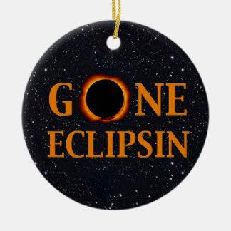 Ornement Rond En Céramique Éclipse solaire ALLÉE d'ECLIPSIN