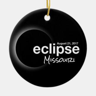 Ornement Rond En Céramique Éclipse solaire totale 2017 - le Missouri