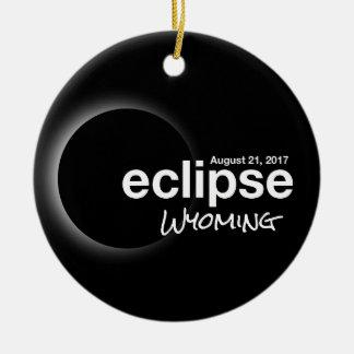 Ornement Rond En Céramique Éclipse solaire totale 2017 - le Wyoming