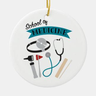 Ornement Rond En Céramique École de Médecine