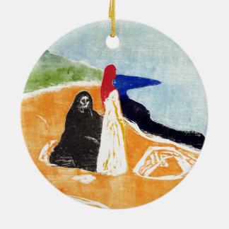 Ornement Rond En Céramique Edvard Munch deux femmes sur le rivage