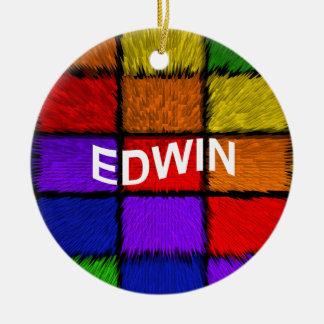 ORNEMENT ROND EN CÉRAMIQUE EDWIN