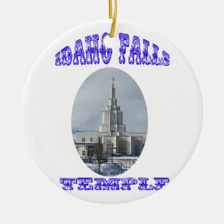 Ornement Rond En Céramique Église de Jésus-Christ de dernier temple de saints