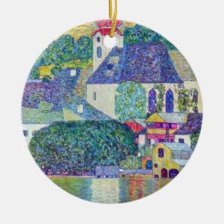 Ornement Rond En Céramique Église de St Wolfgang par Gustav Klimt, art