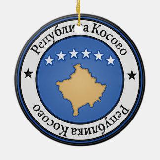 Ornement Rond En Céramique Emblème rond de Kosovo
