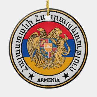 Ornement Rond En Céramique Emblème rond de l'Arménie