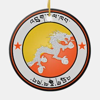 Ornement Rond En Céramique Emblème rond du Bhutan
