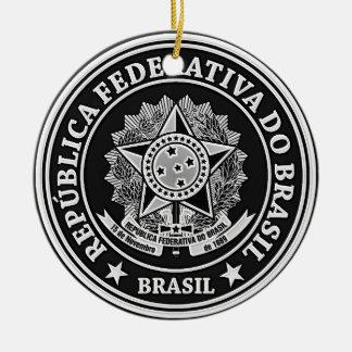 Ornement Rond En Céramique Emblème rond du Brésil