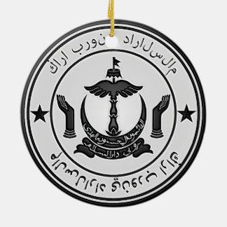 Ornement Rond En Céramique Emblème rond du Brunei