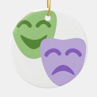 Ornement Rond En Céramique Emoji Twitter - Drama Theater