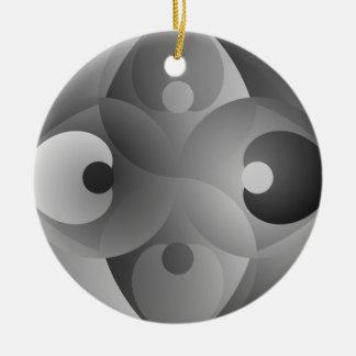 Ornement Rond En Céramique Équilibre de B/W par Kenneth Yoncich