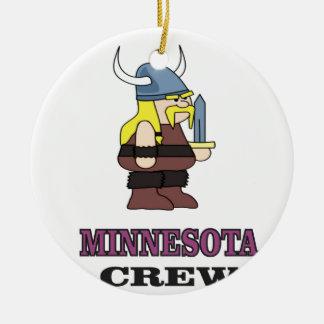 Ornement Rond En Céramique Équipage du Minnesota