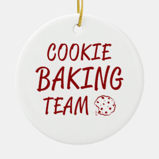 Ornement Rond En Céramique Équipe 2 de cuisson de biscuit