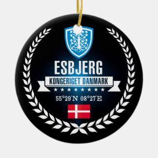 Ornement Rond En Céramique Esbjerg