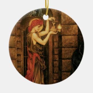 Ornement Rond En Céramique Espoir dans une prison de désespoir par Evelyn De