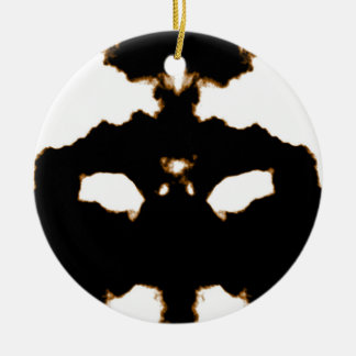 Ornement Rond En Céramique Essai de Rorschach d'une carte de tache d'encre