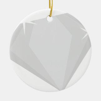 Ornement Rond En Céramique Étincelle de diamant
