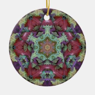 Ornement Rond En Céramique Étoile profonde de la couleur 3d d'automne de