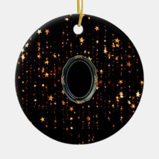 Ornement Rond En Céramique étoiles brillantes