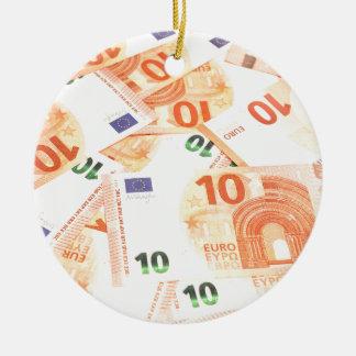 Ornement Rond En Céramique Euro arrière - plan