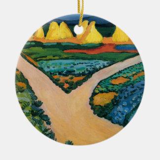 Ornement Rond En Céramique Expressionisme vintage, champs végétaux par Macke