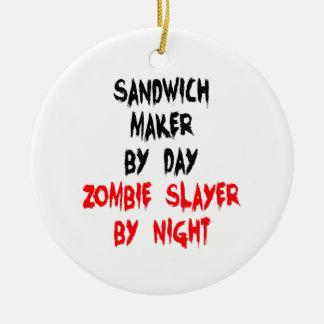 Ornement Rond En Céramique Fabricant de sandwich à tueur de zombi