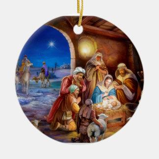 Ornement Rond En Céramique Famille sainte
