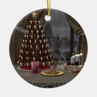 Ornement Rond En Céramique Festins pour l'ornement de Père Noël
