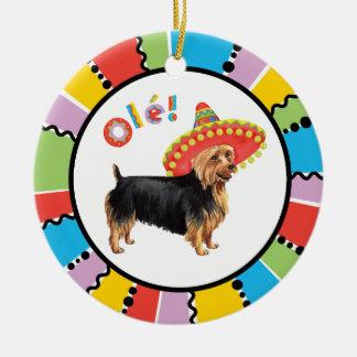 Ornement Rond En Céramique Fiesta Terrier australien