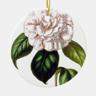 Ornement Rond En Céramique Fleur de Camille