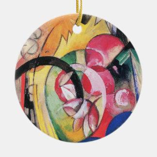 Ornement Rond En Céramique Fleurs colorées (aka formes abstraites) par Franz