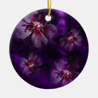 Ornement Rond En Céramique Florals2