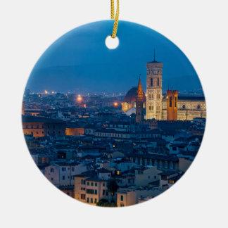 Ornement Rond En Céramique Florence Italie