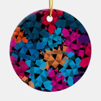 Ornement Rond En Céramique Formes 3D géométriques colorées