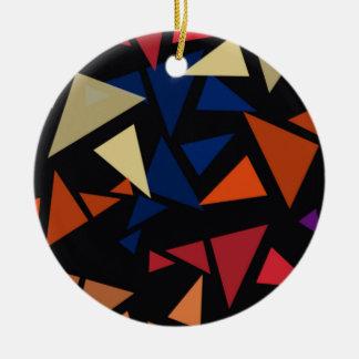 Ornement Rond En Céramique Formes géométriques colorées